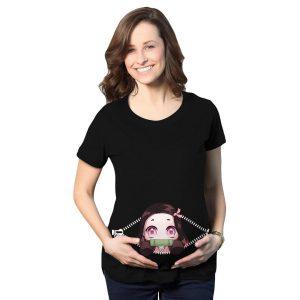 Baby Nezuko Peeking Maternity T-Shirt Official Demon Slayer Merch