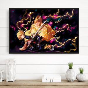 Fire and Thunder Breathing 3D Transition Canvas Official Demon Slayer Merch