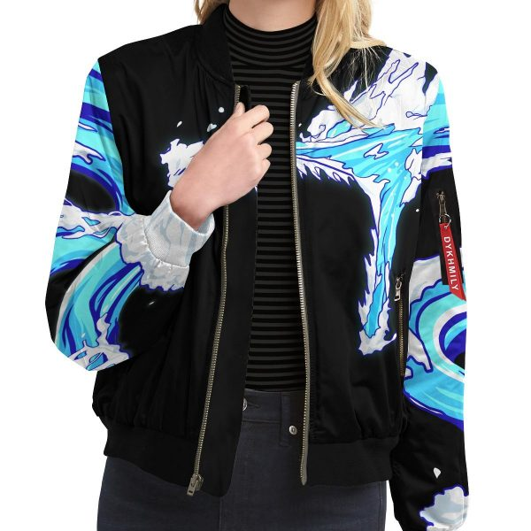 Tanjiro Water Style Bomber Jacket Official Demon Slayer Merch