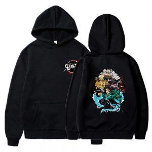 Demon Slayer Hoodie  Kimetsu no Yaiba Beast Black / XS Official Demon Slayer Merch