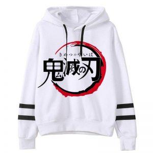 Demon Slayer Hoodie  Japanese Logo S Official Demon Slayer Merch