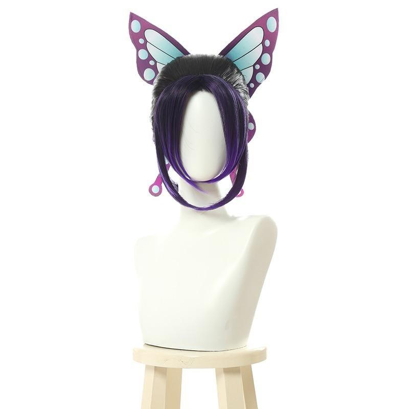 Demon Slayer Cosplay Shinobu Wig With Butterfly / Slower Shipping Official Demon Slayer Merch