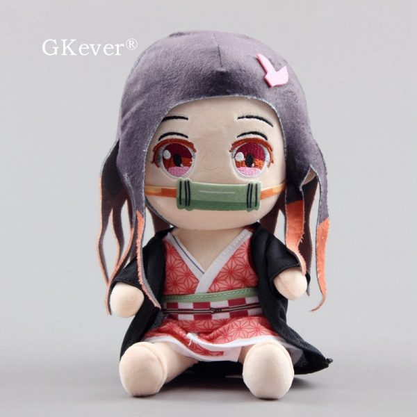 20 CM Anime Demon Slayer Kamado Nezuko Plush Toys Doll Peluche Sitting Style New Arrivals Baby - Demon Slayer Shop
